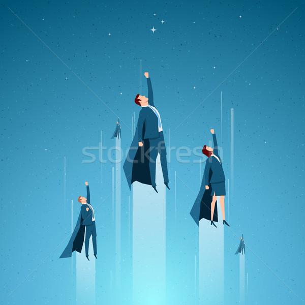 Negócio equipe de negócios líder capacidade elementos Foto stock © sgursozlu