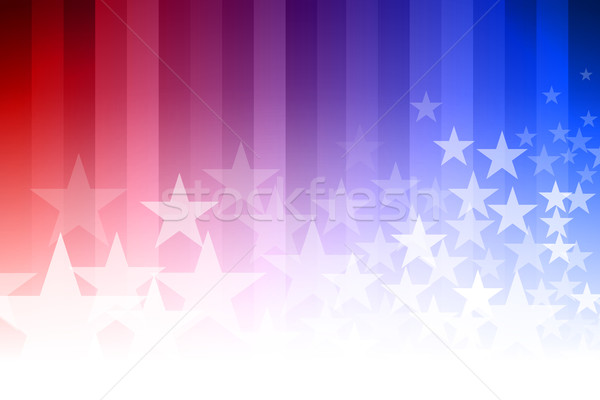 Blue and Red Star Background Stock photo © sgursozlu