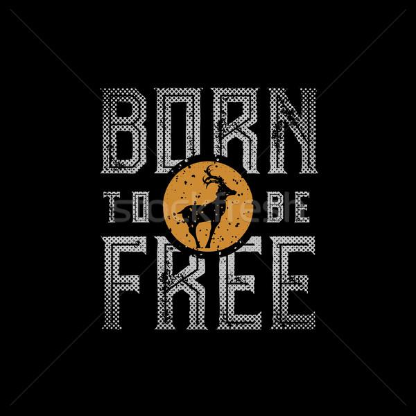 Doğmuş ücretsiz dizayn tshirt baskı Stok fotoğraf © sgursozlu
