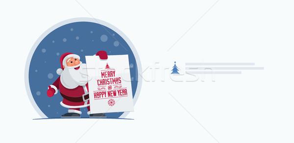 Babbo natale banner Natale design Foto d'archivio © sgursozlu
