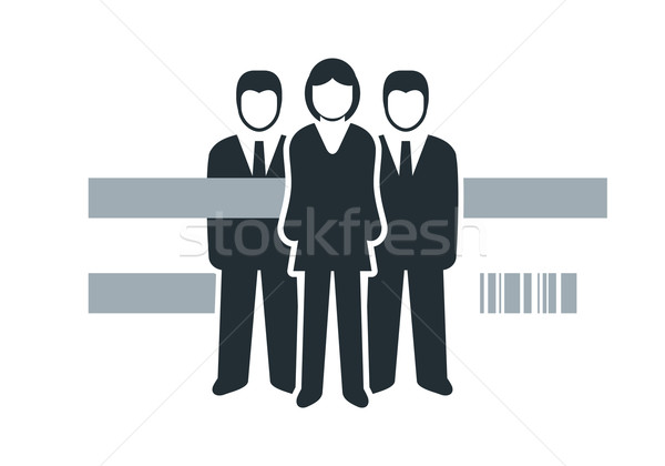 Stock fotó: Emberek · vektor · izolált · üzletemberek · ikonok · férfi
