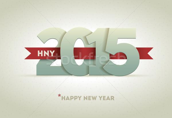2015 明けましておめでとうございます ベクトル グリーティングカード 幸せ ストックフォト © sgursozlu