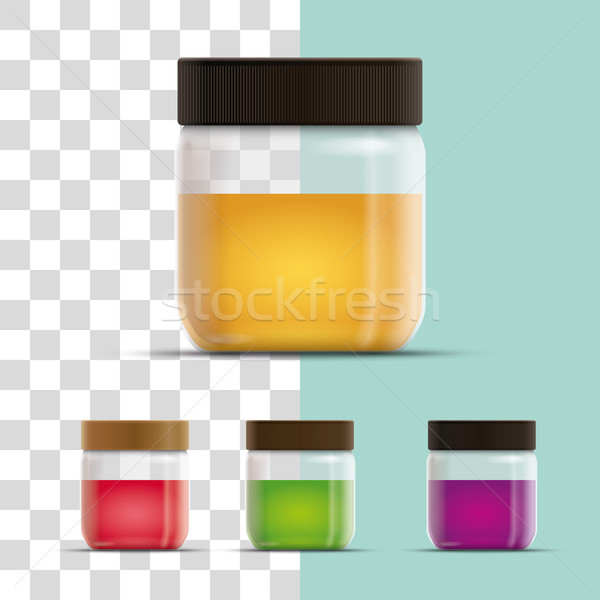 Glass Jar on transparent background. Stock photo © sgursozlu
