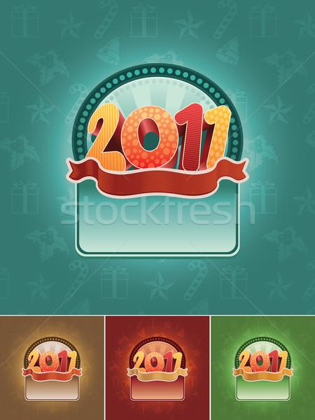 2011 banner zestaw christmas wektora Zdjęcia stock © sgursozlu