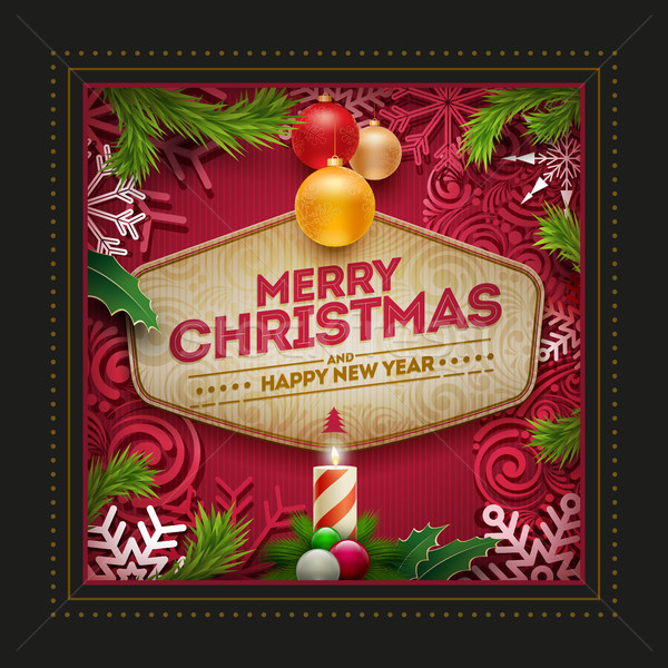 Christmas Greeting Card Design Stock photo © sgursozlu