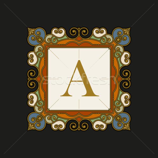 Elegáns vektor keret embléma sablon luxus Stock fotó © sgursozlu
