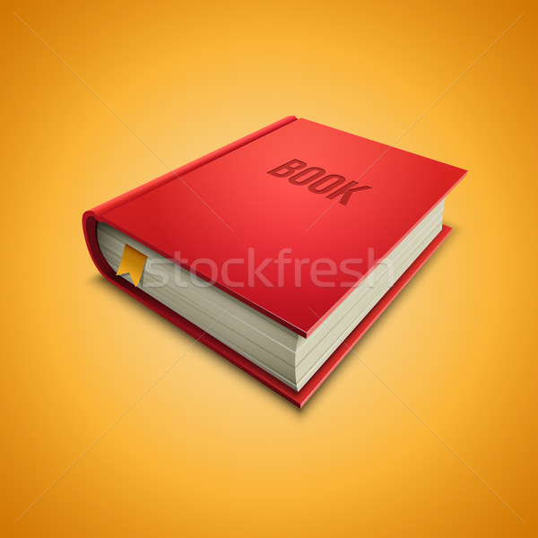 Rouge relié livre jaune Photo stock © sgursozlu