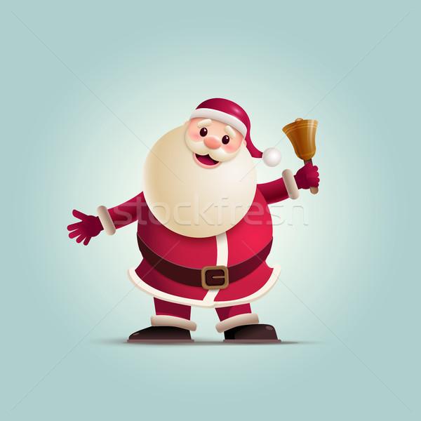 Halten Weihnachten Glocke Elemente Stock foto © sgursozlu