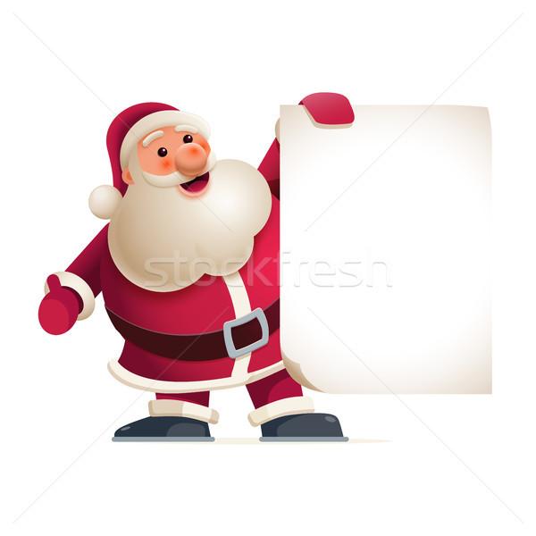Santa Claus showing banner Stock photo © sgursozlu