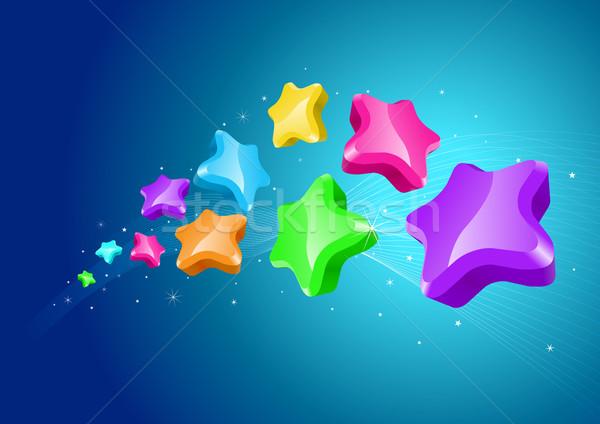 Estrelas colorido céu papel abstrato projeto Foto stock © sgursozlu