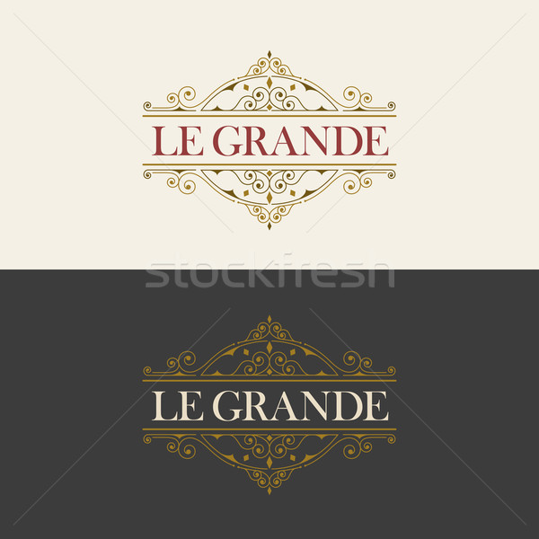Elegant vector emblem template Stock photo © sgursozlu