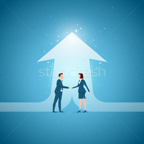 üzlet együttműködés együttműködés lehetőségek elemek réteges Stock fotó © sgursozlu