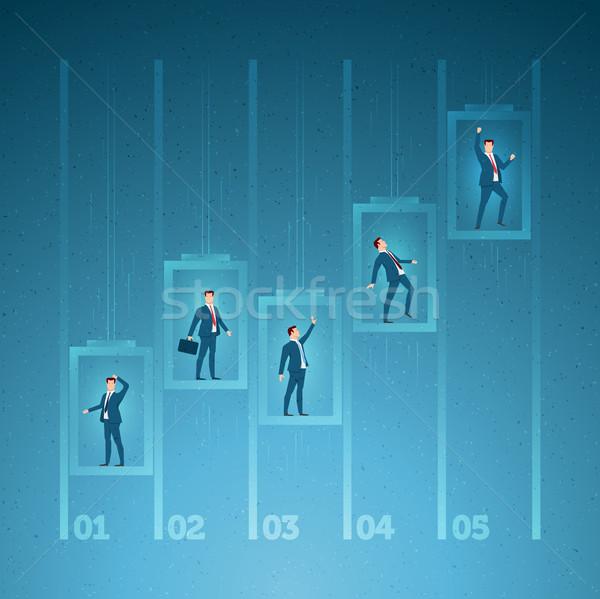 Foto stock: Negócio · sucesso · competição · carreira · elementos