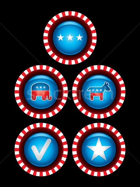 Eleição bandeira EUA Foto stock © sgursozlu