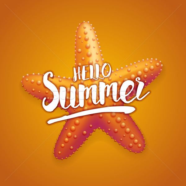 Hello Starfish Summer Stock photo © sgursozlu