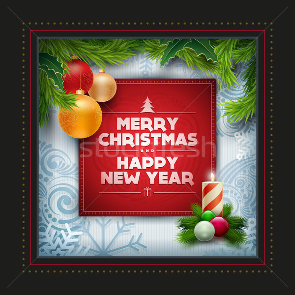 Christmas Greeting Card Design Stock photo © sgursozlu