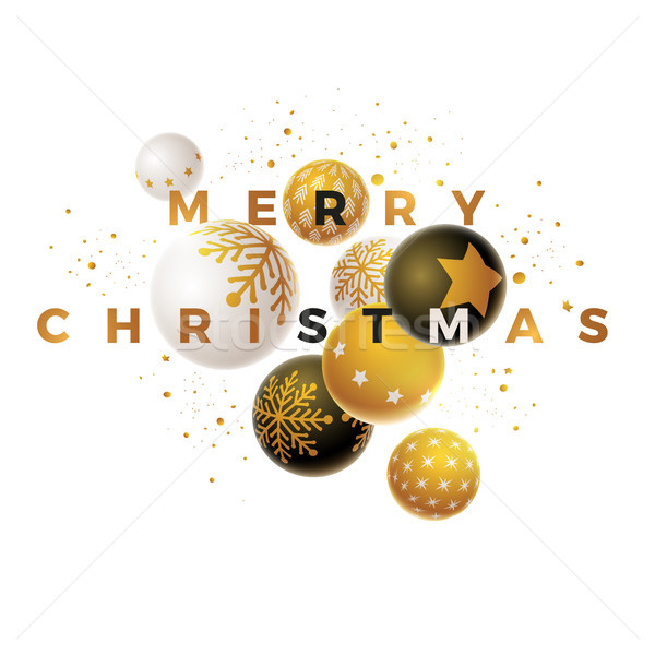 Merry Christmas Design Template Stock photo © sgursozlu