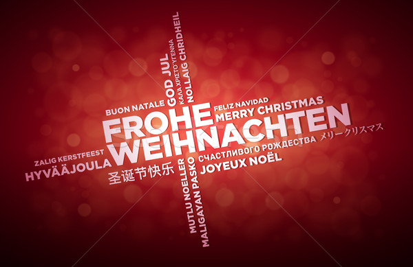 Multi Language Christmas Greeting Design Stock photo © sgursozlu