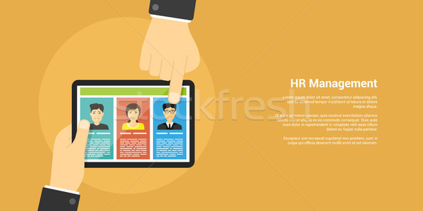 human resource management concept Stock photo © shai_halud