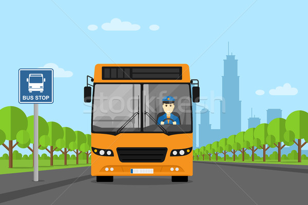 bus driver picture Stock photo © shai_halud