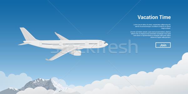 plane flying high Stock photo © shai_halud