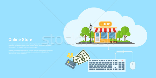Online bolt szalag stílus szín ekereskedelem pénz Stock fotó © shai_halud