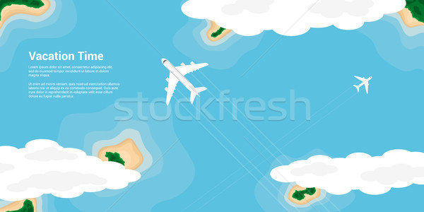 отпуск время фотография самолеты Flying Сток-фото © shai_halud