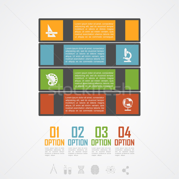 Book stack infographic Stock photo © shai_halud