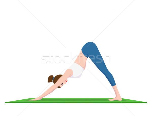 女性 ヨガ 画像 小さな フィット 練習 ストックフォト © shai_halud