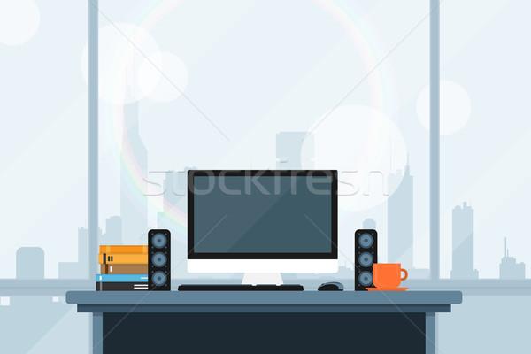 современных workspace стиль иллюстрация служба большой Сток-фото © shai_halud