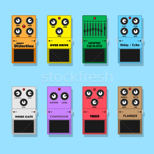 guitar pedals Stock photo © shai_halud