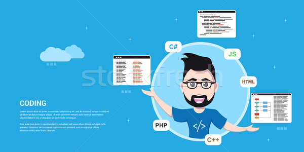 programmer man character Stock photo © shai_halud