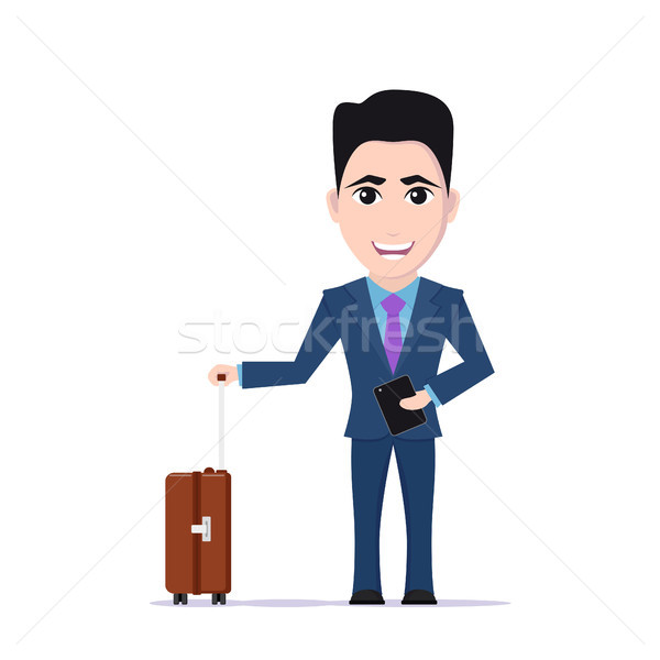 man with luggage bag Stock photo © shai_halud