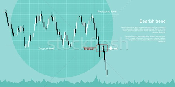 bearish trend concept Stock photo © shai_halud