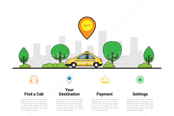 Taxi szolgáltatás infografika sablon autó nagy Stock fotó © shai_halud
