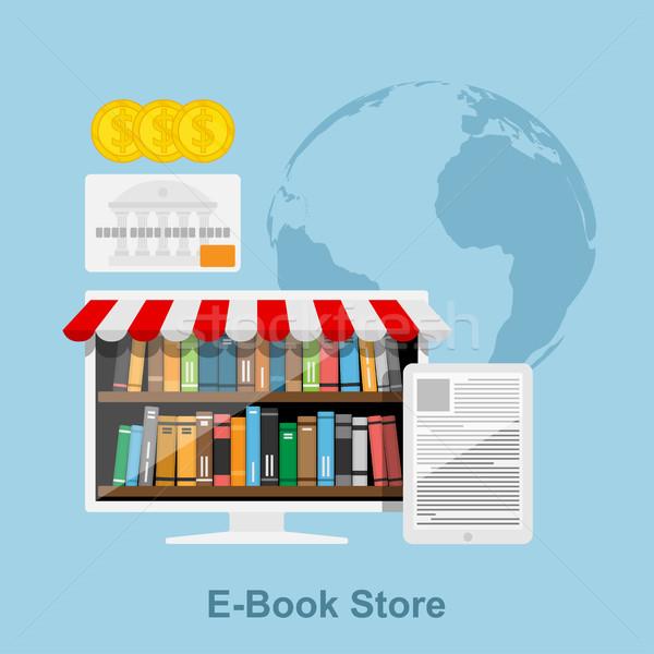 電子ブック ストア スタイル を 書店 pc ストックフォト © shai_halud