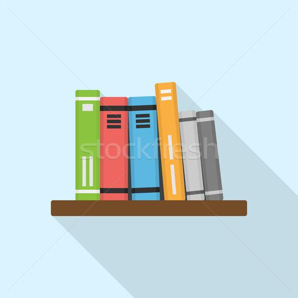 Kitaplar resim raf stil örnek okul Stok fotoğraf © shai_halud