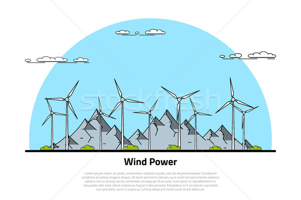 wind energy concept Stock photo © shai_halud