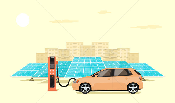 electric car charging Stock photo © shai_halud