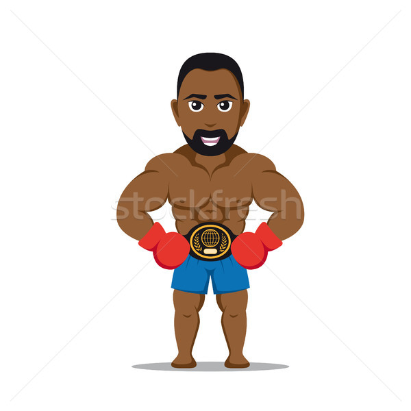 boxer fighter character Stock photo © shai_halud