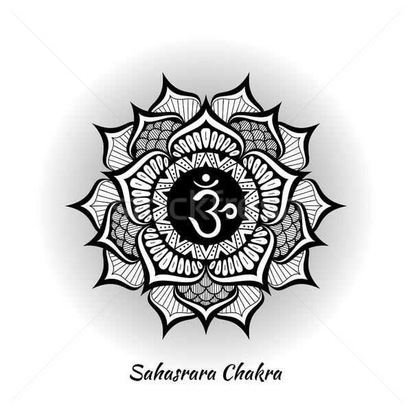 чакра дизайна символ используемый индуизм буддизм Сток-фото © shai_halud