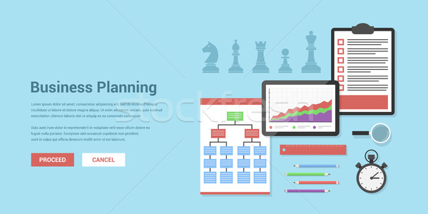 Iş planlama stil afiş strateji para Stok fotoğraf © shai_halud