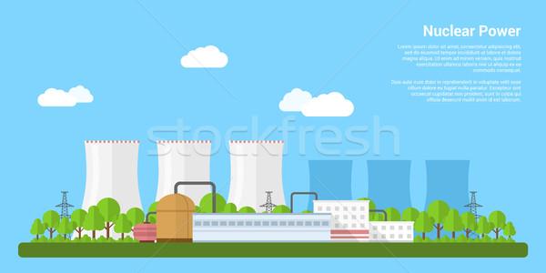 ストックフォト: 核 · 電源 · 画像 · 発電所 · スタイル · バナー