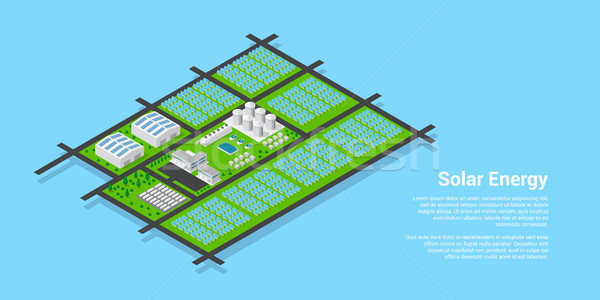 Isometric solar power plant Stock photo © shai_halud