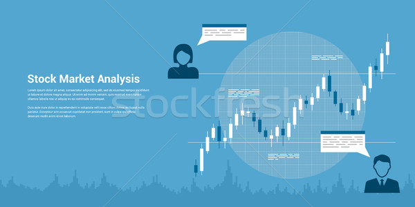 stock market analysis Stock photo © shai_halud