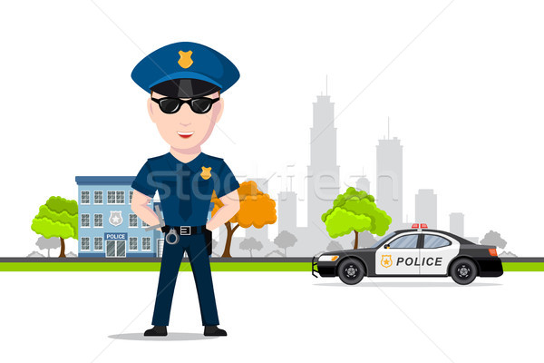 Police officer character Stock photo © shai_halud