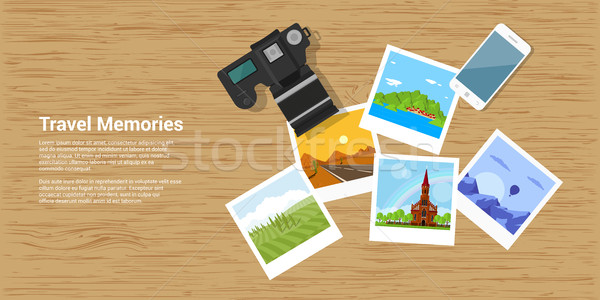 travel memories banner Stock photo © shai_halud