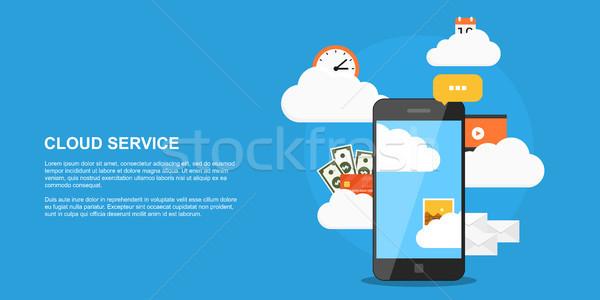 雲 サービス スタイル バナー ストレージ 画像 ストックフォト © shai_halud