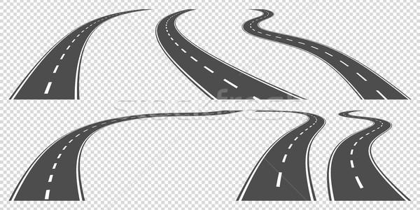 дороги набор вектора дороги дизайна шоссе Сток-фото © shai_halud