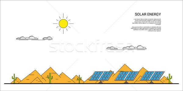 solar energy concept banner Stock photo © shai_halud